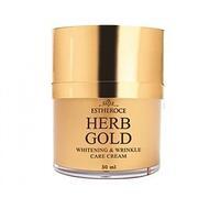 Крем для лица омолаживающий GREENCOS ESTHEROCE HERB GOLD WHITENING & WRINKLE CARE CREAM 50 мл