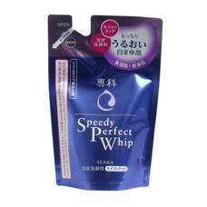 Увлажняющая пенка для умывания с гиалуроновой кислотой и протеинами шелка (для сухой и нормальной кожи) (мягкая экономичная упаковка) SHISEIDO SENKA Speedy Perfect Whip 130 мл