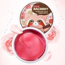Патчи для глаз и скул гидрогелевые ZENPIA Pink Racoony Hydro-Gel Eye & Cheek Patch