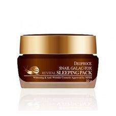 Маска ночная с муцином улитки GREENCOS DEOPROCE SNAIL GALAC-TOX REVITAL SLEEPING PACK 50 гр