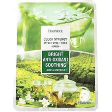 Маска тканевая на основе экстрактов алоэ и зеленого чая REENCOS DEOPROCE COLOR SYNERGY EFFECT SHEET MASK GREEN 20 гр