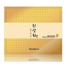 Маска для лица гидрогелевая антивозрастная GREENCOS DEOPROCE CHEON SAM HWA ORIENTAL HYDRO GEL MASK 25 гр
