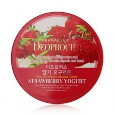 Крем массажный с экстрактом клубники GREENCOS PREMIUM DEOPROCE CLEAN MOISTURE STRAWBERRY YOGURT MASSAGE CREAM 300 гр