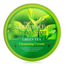 Крем для лица очищающий с экстрактом зеленого чая GREENCOS PREMIUM DEOPROCE CLEAN DEEP GREEN TEA CLEANSING CREAM 300 гр