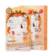 Маска для лица трехэтапная УВЛАЖНЯЮЩАЯ 3-step Aqua White Water Illuminate Mask Sheet, Elizavecca