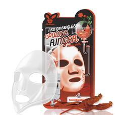 Тканевая маска для лица с Красным Женьшенем RED gInseng DEEP PQWER Ringer mask pack, 23мл, Elizavecca