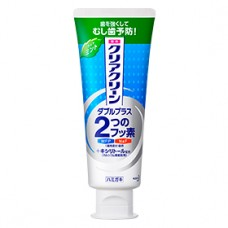 Лечебно-профилактическая зубная паста  KAO Clear Clean Double Plus Light Mint с микрогранулами и ксилитом мята 130 гр