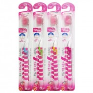 Зубная щетка cо сверхтонкой двойной щетиной (средней жесткости и мягкой) и прозрачной прямой ручкой DENTAL CARE Фтор