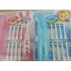 Электрическая зубная щетка Hapica для детей от 3 до 10 лет, плюс восемь насадок и контейнер