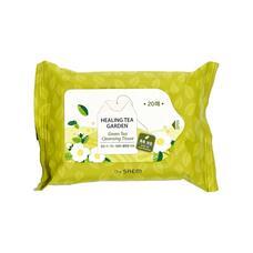 Салфетки очищающие с экстрактом зеленого чая THE SAEM Healing Tea Garden Green Tea Cleansing Tissue 20 шт