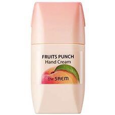 Крем для рук персиковый пунш THE SAEM Fruits Punch Peach Hand Cream 50 мл