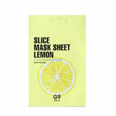 Маска-слайс для лица тканевая осветляющая G9 Skin Slice Mask Sheet-Lemon 10 мл