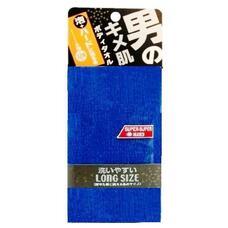 Массажная мочалка супер-супер жесткая, синяя AISEN DOUBLE SUPER HARD 30x120 см, нейлон 100%