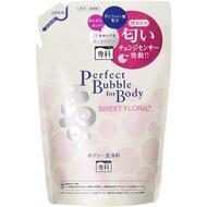 Дезодорирующий гель для душа с эффектом увлажнения с гиалуроновой кислотой со сладким цветочным ароматом (мягкая экономичная упаковка) SHISEIDO SENKA Perfect Bubble 350 мл