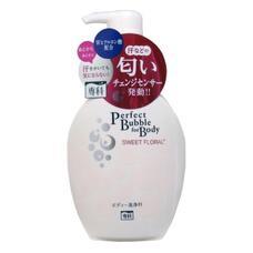 Дезодорирующий гель для душа с эффектом увлажнения с гиалуроновой кислотой со сладким цветочным ароматом SHISEIDO SENKA Perfect Bubble 500 мл