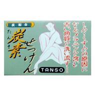 Очищающее и увлажняющее мыло на основе древесного угля со скваланом Fudo Kagaku BINOTOMO-TANSO 85 г