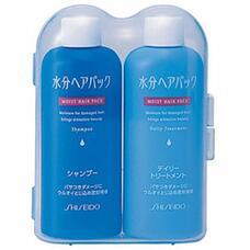 Дорожный мини-набор (шампунь и бальзам-кондиционер для поврежденных волос с цветочным ароматом) SHISEIDO MOIST HAIR PACK 50 мл х 2 шт