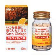 Экстракт гинкго билоба и листья красного винограда Sato Ginkgo Biloba № 120