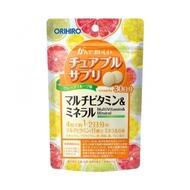 Жевательные мультивитамины и минералы ORIHIRO со вкусом грейпфрута № 120