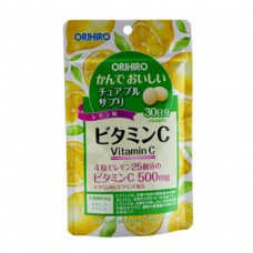 Жевательный витамин С со вкусом лимона ORIHIRO № 120