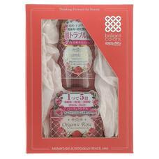 Подарочный набор MEISHOKU ORGANIC ROSE Увлажнение и Уход Лосьон–кондиционер и гель-кондиционер для лица с экстрактом дамасской розы, 200 мл, 90 г