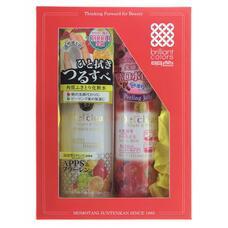 Подарочный набор MEISHOKU Detclear Очищение и увлажнение Пилинг-гель с эффектом сильного скатывания с ароматом ягод,180 мл, лосьон Очищение и увлажнение, 180 мл
