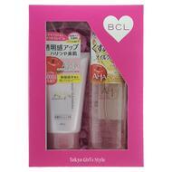Подарочный набор BCL CLEANSING RESEARCH Двойное очищение Очищающее и увлажняющее масло для снятия макияжа, 145 мл, пена-скраб для лица, 120 г