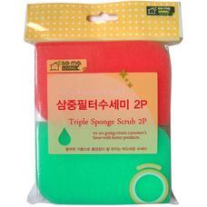 Губка для мытья посуды MYUNGJIN 2 шт