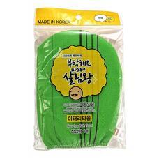 Мочалка для тела INSAN в виде рукавички, жесткая, (зеленая)