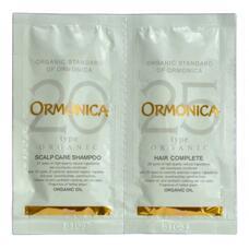 Мини-набор ORMONICA органический шампунь и бальзам для ухода за волосами и кожей головы, 2х10мл