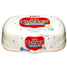 Детские влажные салфетки с лосьоном PIGEON пластиковый контейнер, 80 шт