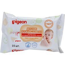 Влажные салфетки детские PIGEON для рук и рта, пустышек, игрушек, 25 шт