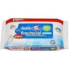 Влажные салфетки детские PIGEON, с антибактериальным эффектом, 20 шт