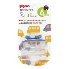 Пустышка PIGEON Машинка 6+ мес (размер L)