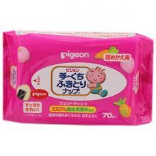 Детские влажные салфетки (для рук и лица) PIGEON запасной блок 70 шт